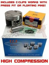 Custom YCP B20 84mm High Compression Pistons w/ NPR rings & CClips B20B B20Z CRV