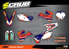 KTM Grafik SX SXf 125 250 450 525 2003 2004 '03 - '04 Sticker Dekor-Set SCRUB