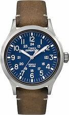 Timex Mens Expedition Watch TW4B01800 Leather strap, Indiglo Night Light & Date