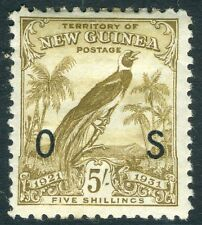 NEW GUINEA-1931 5/- Olive-Brown Official Sg 041 LIGHTLY MOUNTED MINT V15683