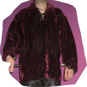 Samthemd  Mittelalter Hemd gothic Hemd in M Piratenhemd