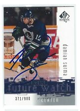 Damian SURMA Signed 2000/01 SP Authentic Rookie Card Plymouth Whalers