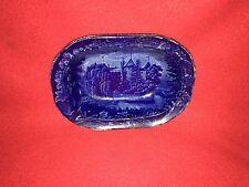 Historical Staffordshire Dark Blue Vegetable Dish LaGrange Lafayette Residence