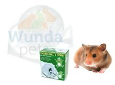 HAPPY PET SYRIAN HAMSTER EXERCISE JOGGING BALL WITH STAND GLITTER ASSORTED 31040