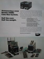 6/1975 PUB BENDIX ARINC AVIONICS COM NAV SYSTEM AVIONIQUE ORIGINAL AD