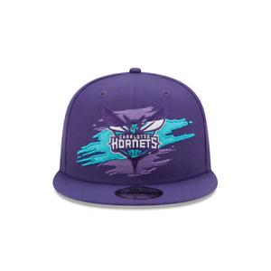 Men's New Era 9Fifty Charlotte Hornets Purple/Teal Logo Tear Snapback (60119221)