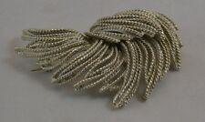 Vintage B.S.K. Silver tone Pin Brooch Rope Sweep
