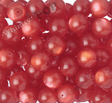 20mm 12pcs Red Cat's Eye Beads Chunky Acrylic Round Gumball Bubble Gum Bead