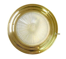 """4"""" DOME LIGHT Polished brass NIGHT VISION halogen 2(1white/1red) bulbs AA00542BH"""