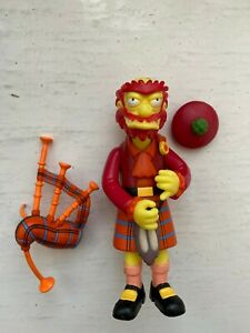 PLAYMATES INTERACTIVE THE SIMPSONS S 14 GROUNDSKEEPER WILLIE IN KILT FIGURE WOS