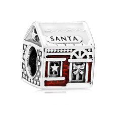 Original PANDORA Element 792003ENMX Charm Santa`s Home
