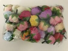 50pcs Artificial Flowers Small Mini Silk Rose Heads Flower Party Wedding Decor
