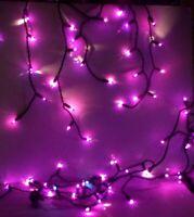 Halloween 70 Count Ceramic Mini UL Light Set Way to Celebrate Purple