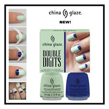 China Glaze Double Digits Re-Fresh Mint & Man Hunt Set + Bonus Gift
