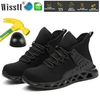 Mens Womens Work Safety Shoes Steel Toe Boots Indestructible Cushioned Sneakers