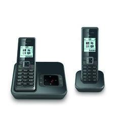Sinus A 206 Duo Graphit Grau Schnurlostelefon mit Anrufbeantworter NEU OVP