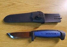 Mora Sweden Pro S Stainless Steel Fixed Blade Black Blue Handle Knife 01506
