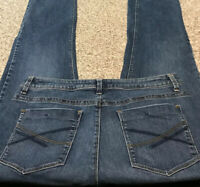 Women's LEE SLIM SKINNY STRETCH JEANS Size 16 Actual 34x31 Rise 10.5