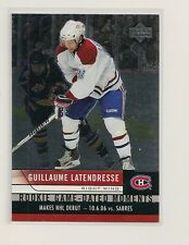 2006-07 Upper Deck Rookie Game-Dated Moments #RDG-13 Guillaume Latendresse