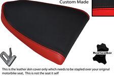 BLACK & RED CUSTOM FITS APRILIA RSV RSVR 1000 04-08 REAR LEATHER SEAT COVER