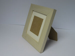 Ivory Effect 6x6 Square Photo Picture Frame Mount 4x4 Free Standing