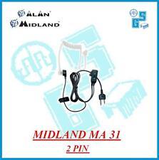 MA31 MIDLAND MICROFONO AURICOLARE PNEUMATICO CONNETTORE DRITTO 2 pin G7/G8/G9
