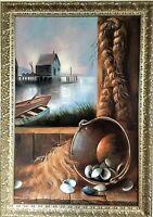 BUCK PAULSON original OIL Painting Nautical Still Life Seascape Impressionism US