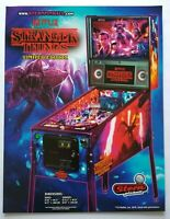 Stern Stranger Things Limited Pinball FLYER Original 2019 NOS Game Paper Artwork