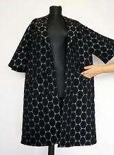 Marni H&M HM Black Polka Dot Buttonless Jacket Coat , Size:EU 42, US 12