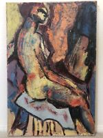 🔥 Antique Mid Century Modern Impressionist Abstract Oil Painting Boston - PAULI