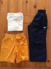 Boys Athletic Set Xs 4/5 Starter Faded Glory 3 pc Shorts Pants Polo Shirt