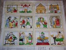 Fairy Tales Fabric Soft Book Panel Fabric Quilting Treasures