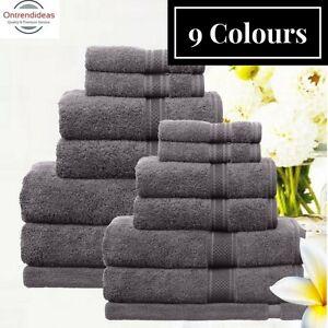 Ramesses 100% Egyptian Cotton Towel Set | 7 Or 14pc Set | Luxury Egyptian Towels