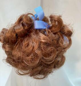 "7/8"" Curly Curls Bows Auburn Doll Wig Reborn OOAK BJD Bisque Repair VICKY"