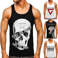 Tank Top T-Shirt Tanktop Tee Muskelshirt Achselshirt Motiv Herren Mix BOLF Print