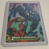 1994 Fleer VENOM & SPIDER-MAN Eddie Marvel Comics Trading Card #17 8.5 grade EX+