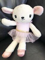 H&M Baby Girl Comforter Soft Hug Toy Sheep Lamb Rabbit Ballerina Pink Tutu