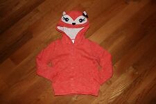 NWT Gymboree Fairy Tale Forest Size 2T Orange Hooded Fox Cardigan Sweater