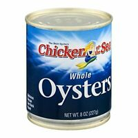 12 PACKS : Chicken of the Sea Whole Oysters, 8 Ounce