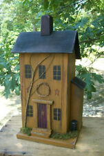 Functional Birdhouse , Saltbox Birdhouse , Primitive Birdhouse , Saltbox