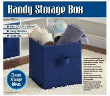 FOLDABLE STORAGE BOXES COLLAPSIBLE HOME CLOTHES ORGANIZER FABRIC CUBE NEW