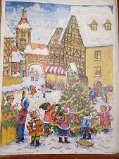 Vntg. German Advent Calendar Richard Sellmer Verlag Village Tree Decorating NEW
