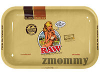NEW RAW GIRL ROLLING TRAY METAL SMALL
