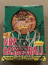 1987-88 Fleer Basketball Sealed Wax Box BBCE FASC Rare Investment Jordan Sticker