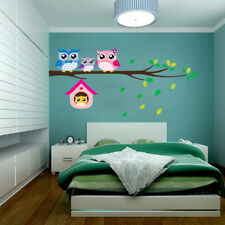 GN- Owl Birds Branch Mural Wall Stickers Decal Removable Kids Baby Room Decor He