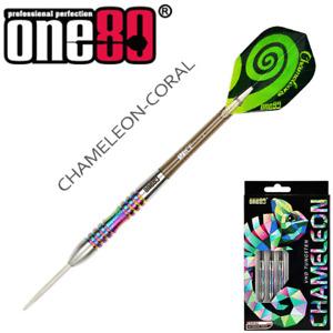 One80 - Chameleon Coral - 24g - 90% Tungsten Steel Tip Darts - Handmade.