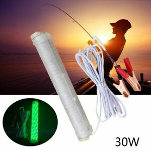 Underwater Night Fishing Light 12V 30W 150SMD LED Green Submersible Fish Finder