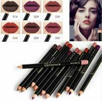 Waterproof Pencil Lipstick Pen Matte Lip Liner Makeup Long Lasting Multifunction