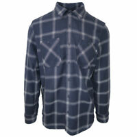VANS (DISPATCHED) L/S FLANNEL PARISIAN NIGHTS NAVY BLUE MENS SZ MEDIUM M NWT NEW