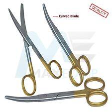 """Cutting Mediche Mayo Pro Forbici 5.5"""" strumenti chirurgici LAMA CURVA ORO CE"""
